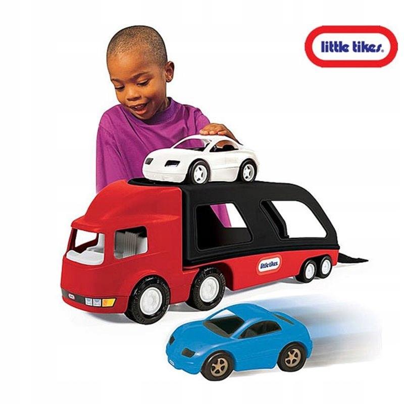 Little tikes naczepa auto laweta + dwa auta