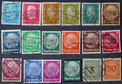 Niemcy stare DR - znaczki kasowane - zestaw (8)