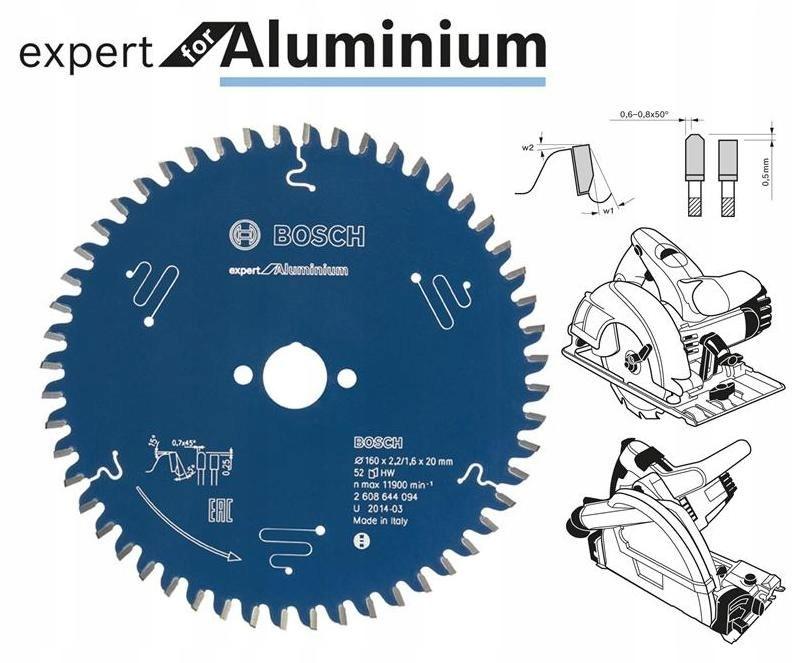 BOSCH PIŁA TARCZOWA DO ALUMINIUM EXPERT 160x20mm 5