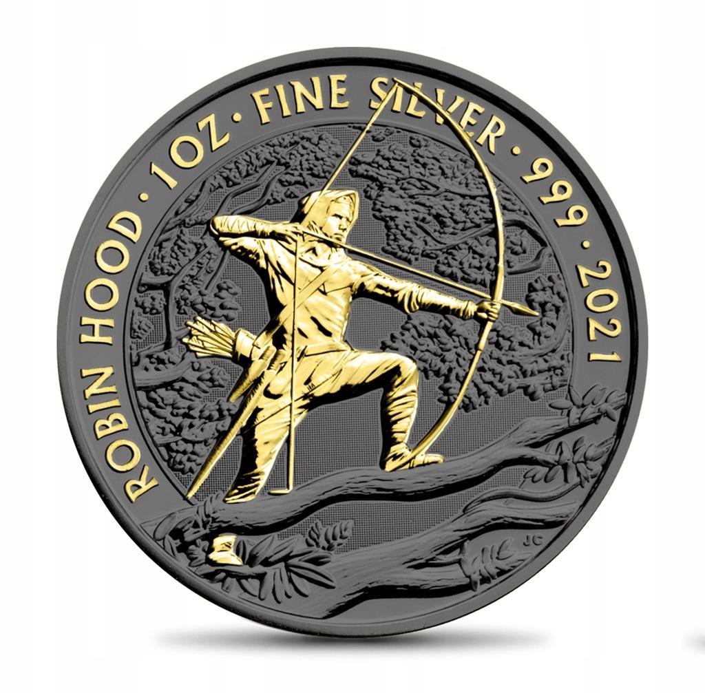 UK 2021 - 2 POUNDS Robin Hood - Gold Ruthenium
