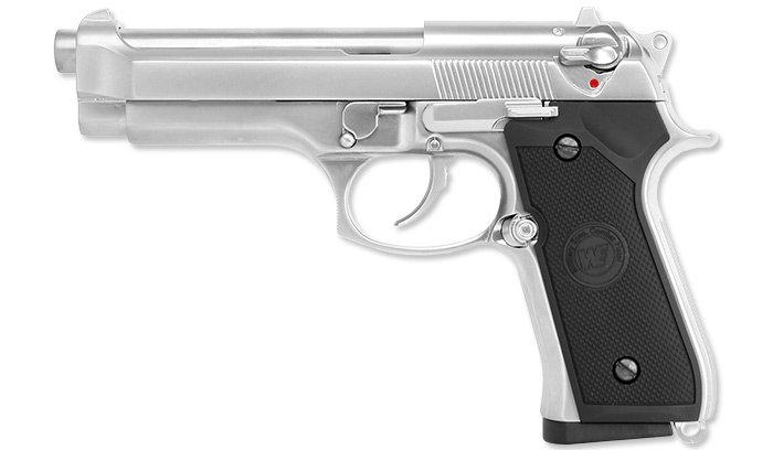 WE - Replika Beretta M92 Chrome Full Metal