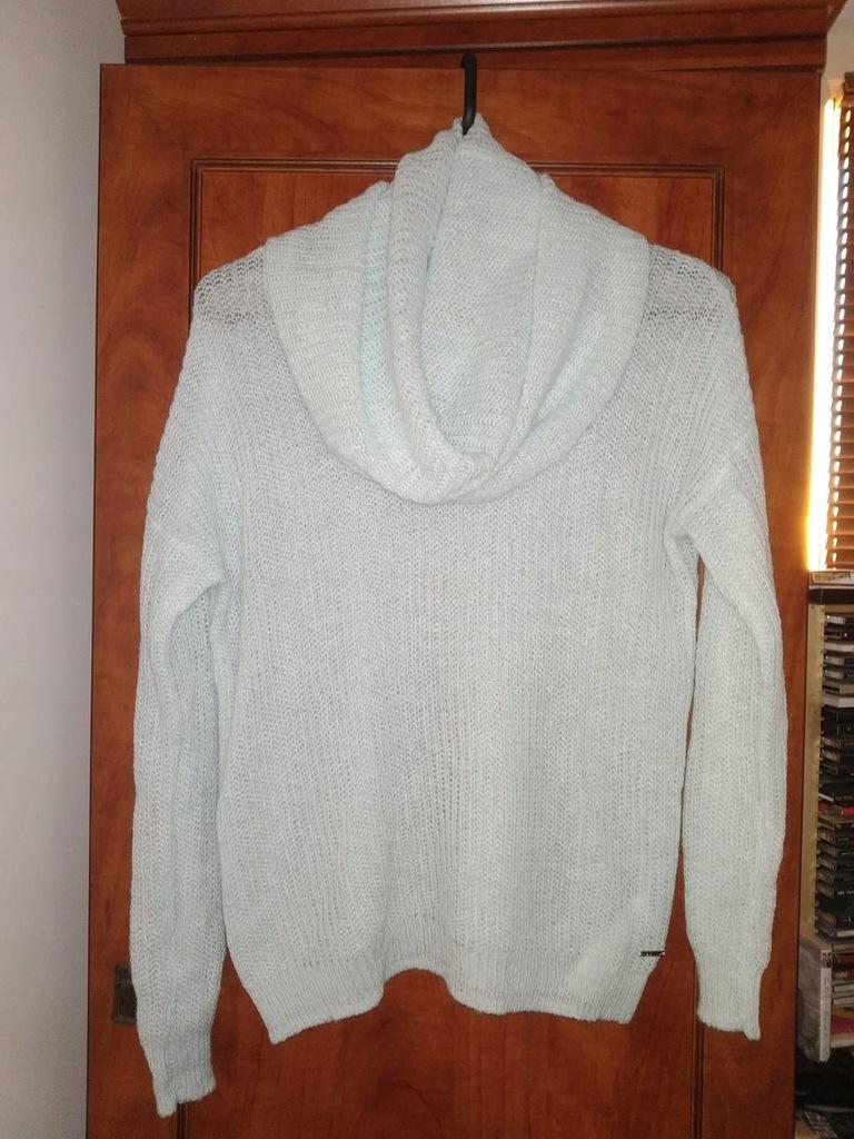 SWETER sweterek MOHITO miętowy XS moher cienki
