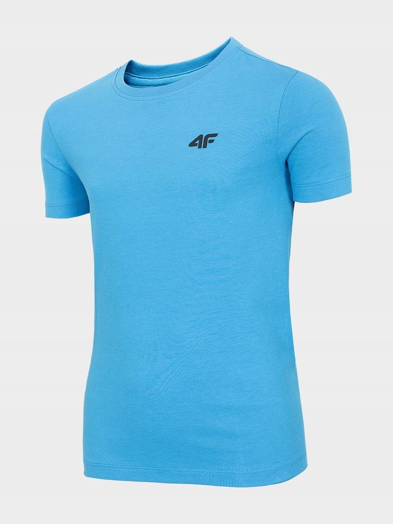 T-shirt chłopięcy basic 4F niebieski r. 158