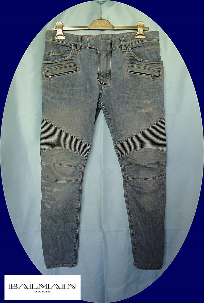BALMAIN PARIS - spodnie męskie jeansy