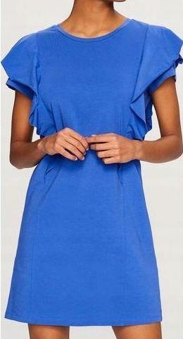 RESERVED chabrowa sukienka z falbankami 40 L