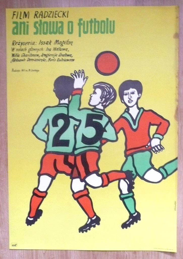"""Plakat filmowy """"Ani słowa o.."""" 1975"""