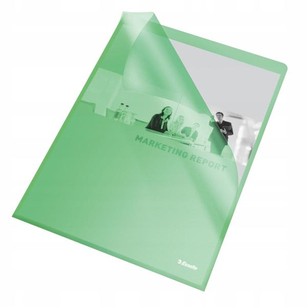 Ofertówka groszkowa ESSELTE A4 115mic zielona