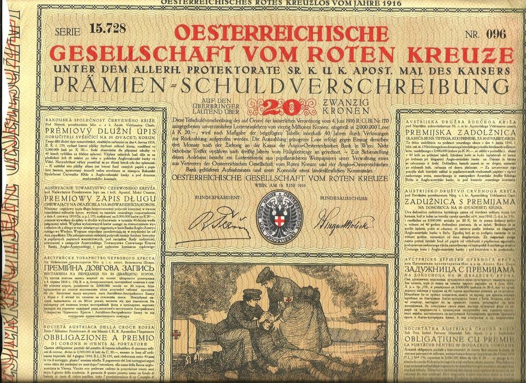 !C.K. AUSTRIACKI CZERWONY KRZYŻ! I WOJNA ŚW.!1916!
