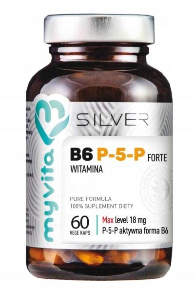 Myvita Silver Witamina B6 P-5-P Forte 60 kapsułek