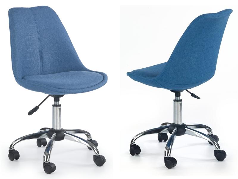 Krzesło obrotowe młodzieżowe niebieskie COCO 24H