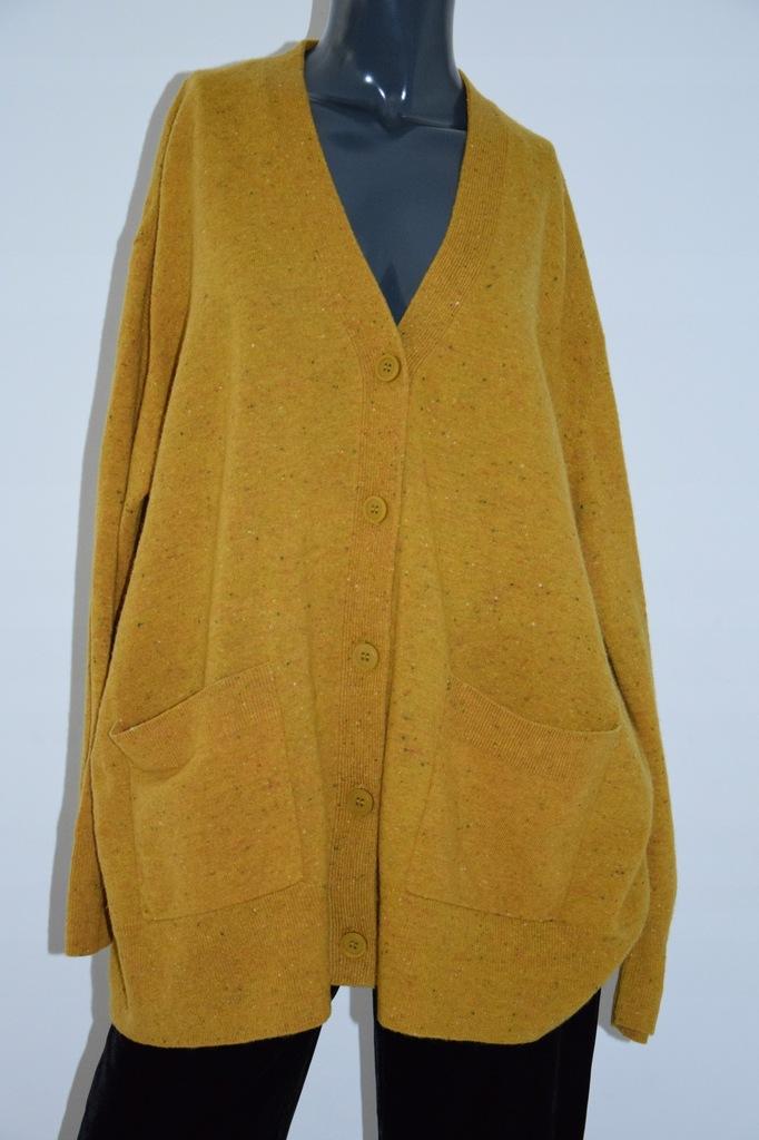 cos żółty sweter oversize kieszenie r. M/L 38