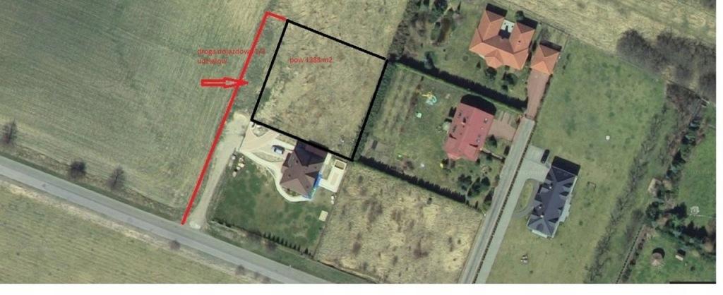 Działka, Siadło Górne, Kołbaskowo (gm.), 1388 m²