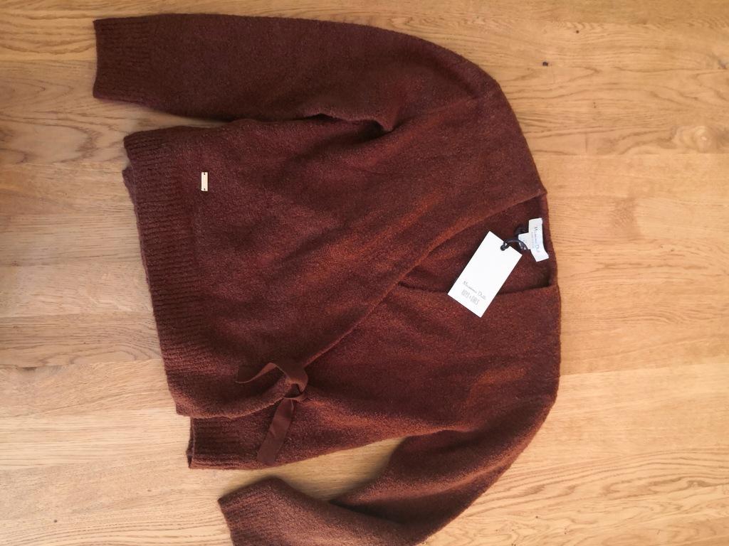 Massimo Dutti sweterek 122-134 brązowy nowy