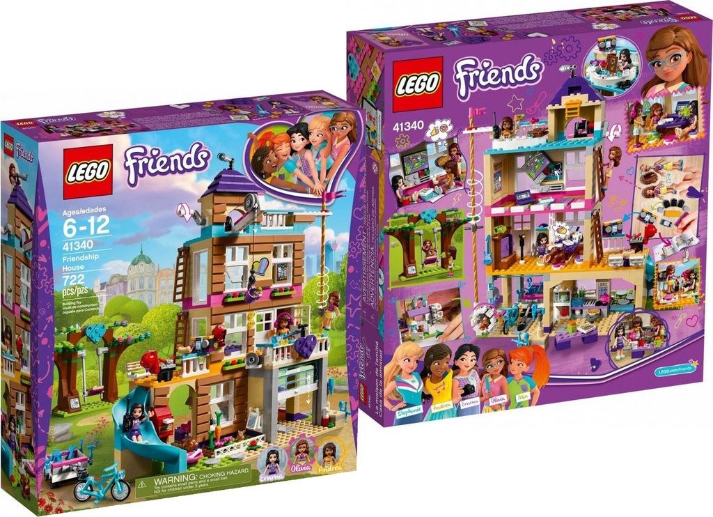 LEGO FRIENDS DOM PRZYJAŹNI KLOCKI DLA DZIEWCZYNKI