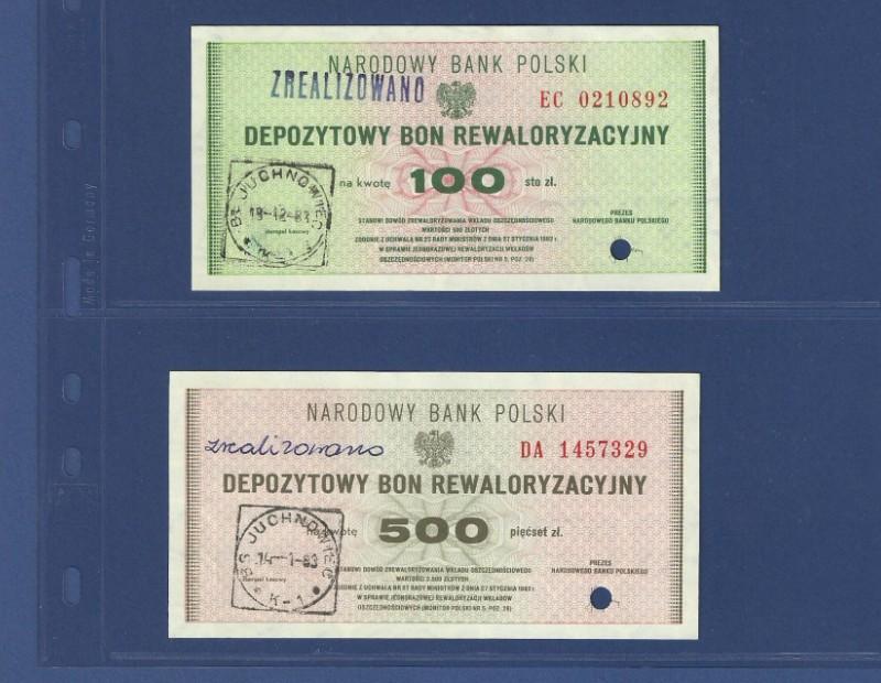 Depozytowe Bony Rewaloryzacyjne 100 zł + 500 zł