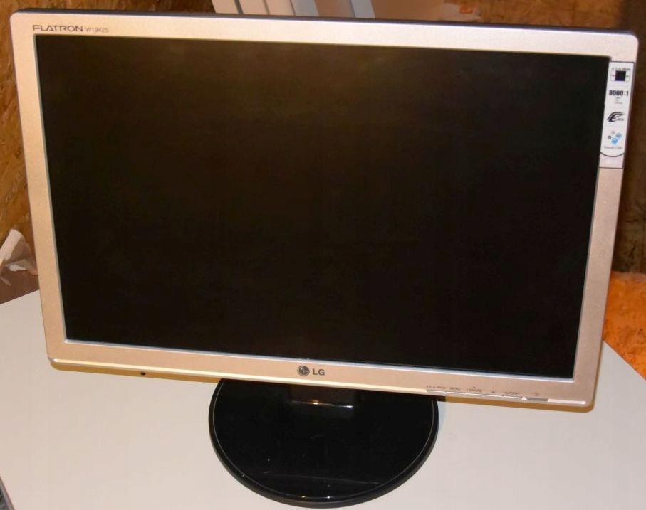 Monitor Lcd 19 Lg Flatron W1942st Srebrny 7905343472 Oficjalne Archiwum Allegro