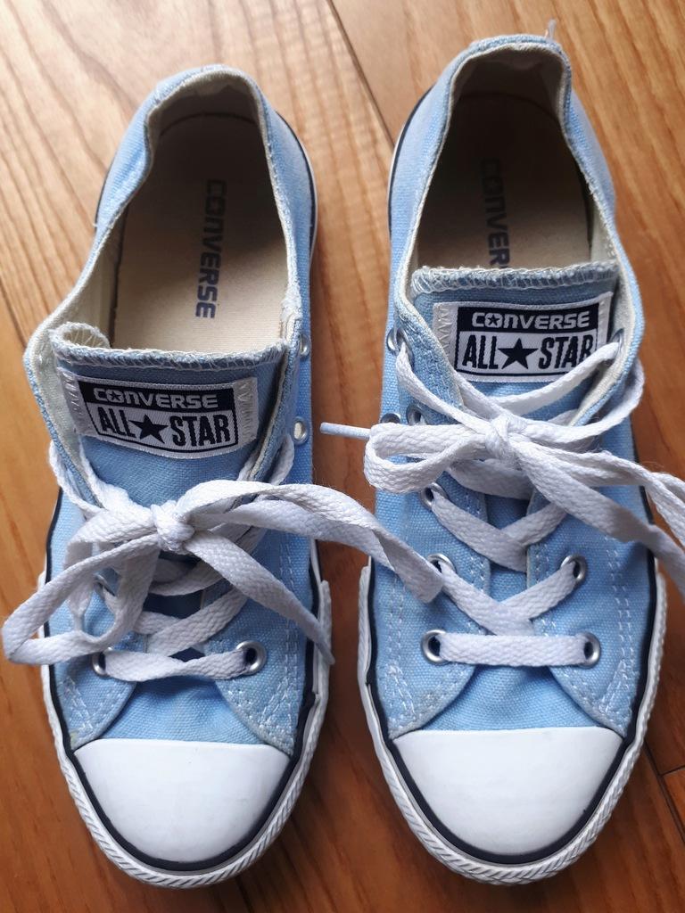 Trampki Converse błękitne, roz. 34 (21 cm) 8141442799