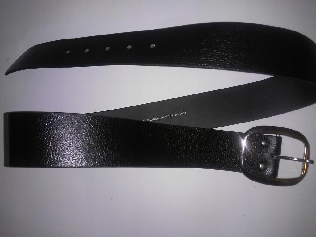Pasek damski skórzany H&M 108 cm czarny