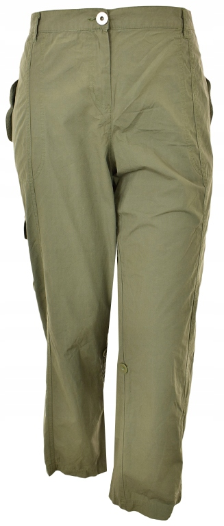 pEEE0012 zielone casualowe spodnie 54
