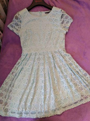 Miętowa sukienka M&S rozm 42