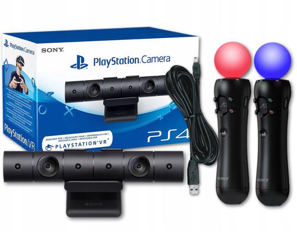 Zestaw Playstation 4 Kontrolery Move + Kamera NOWE