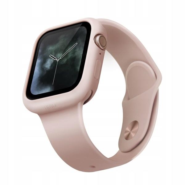 UNIQ etui Lino Watch Series 5/4 40MM różowy/blus