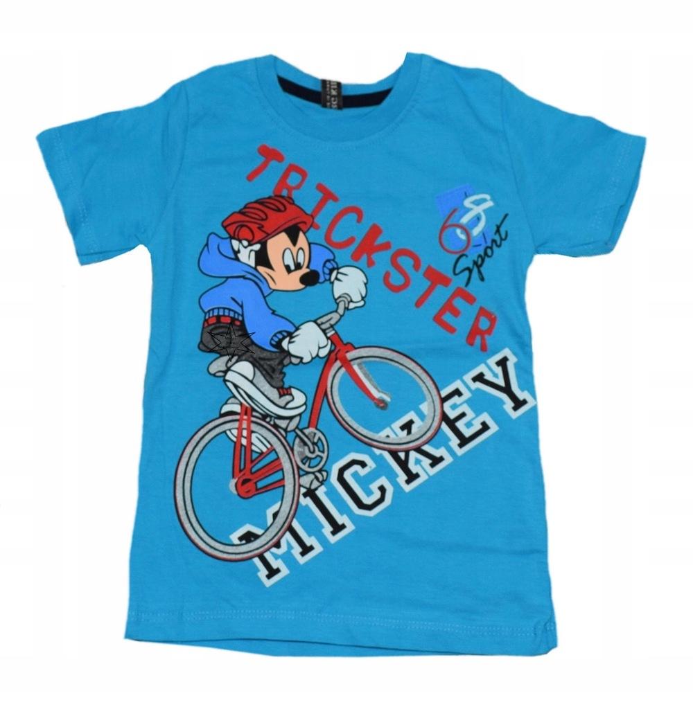 T-shirt bluzka chłopięca Myszka granat 86-92