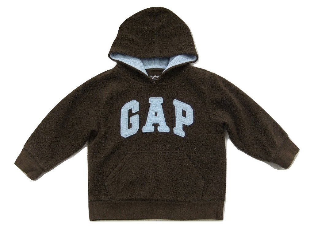 GAP brązowa polarowa bluza z kapturem 98cm