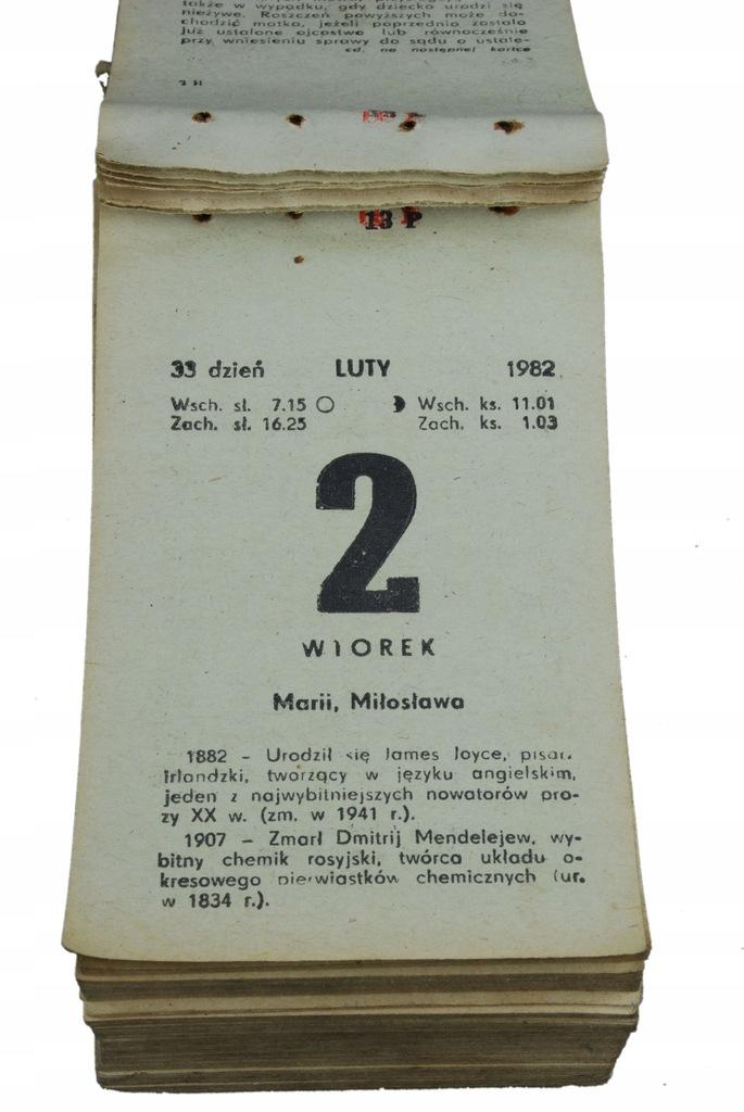 38 urodziny prezent kartka kalendarz zdzierak 1982