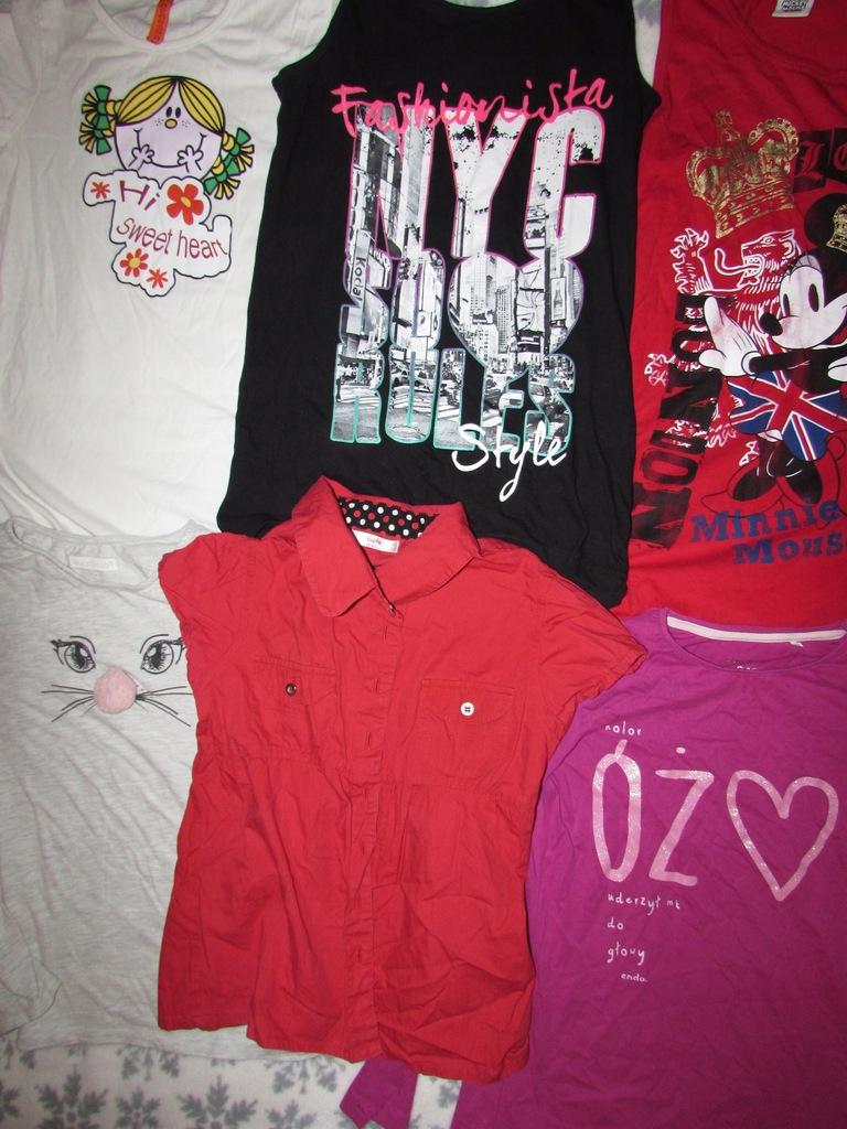 Zestaw ubrań 23szt dziewczynki roz.134-140 9-10l