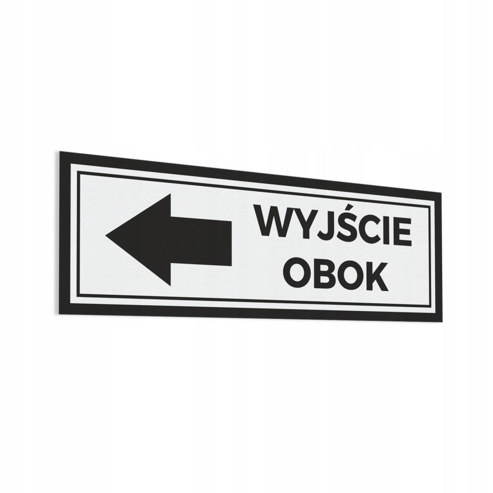 < Wyjście Obok - Naklejka na drzwi 30x10