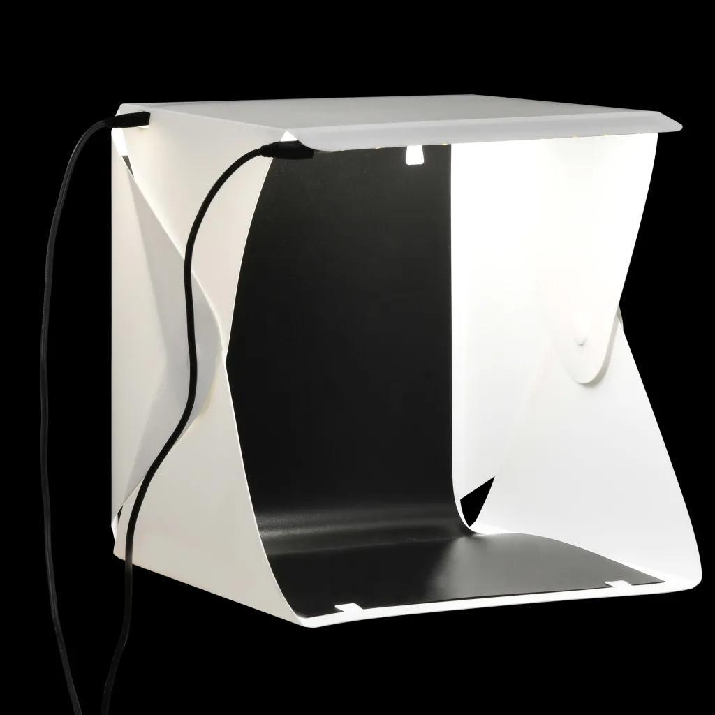 Składany Lightbox Studyjny Z Lampami LED Biały