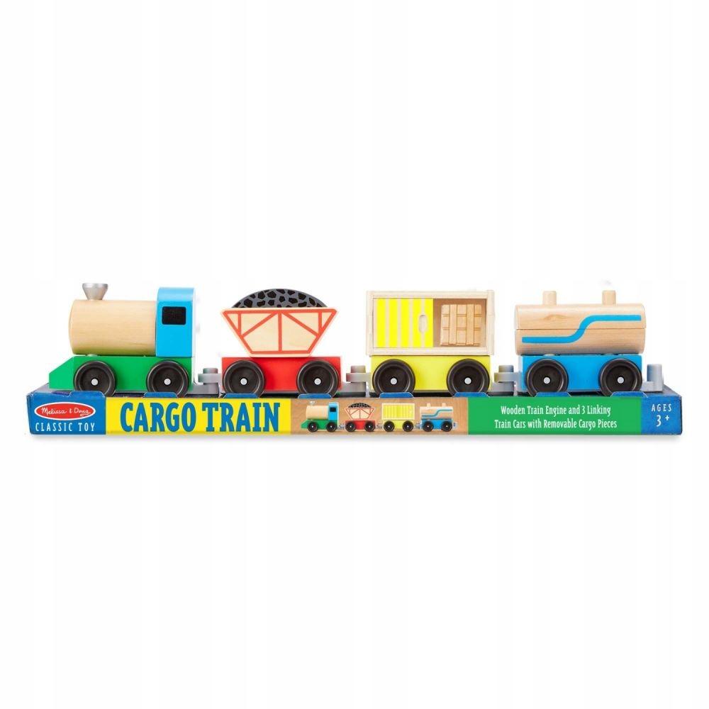Drewniany pociąg towarowy Propozycja na prezent