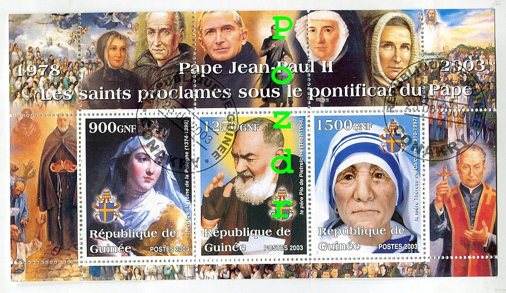 Papież Jan Paweł II - Gwinea 2003r