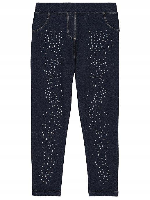 GEORGE legginsy ala jeans z cyrkonami NEW 110-116