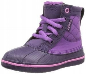 CROCS BUTY allcast leather duck boot gs R.