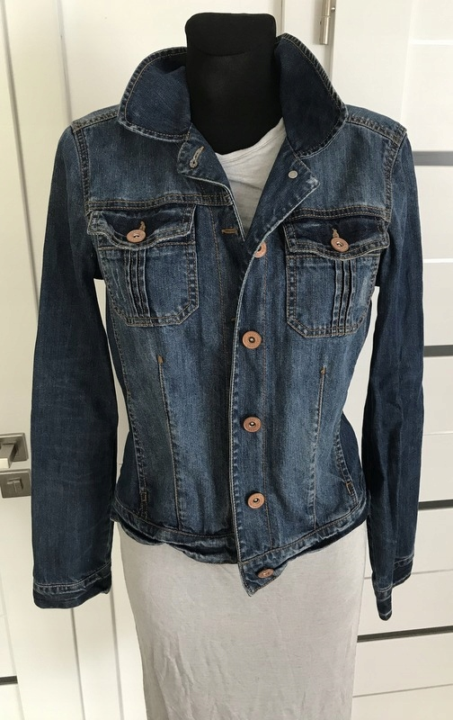 NEVER DENIM * KURTKA jeans katana DZINSOWA * 40 L