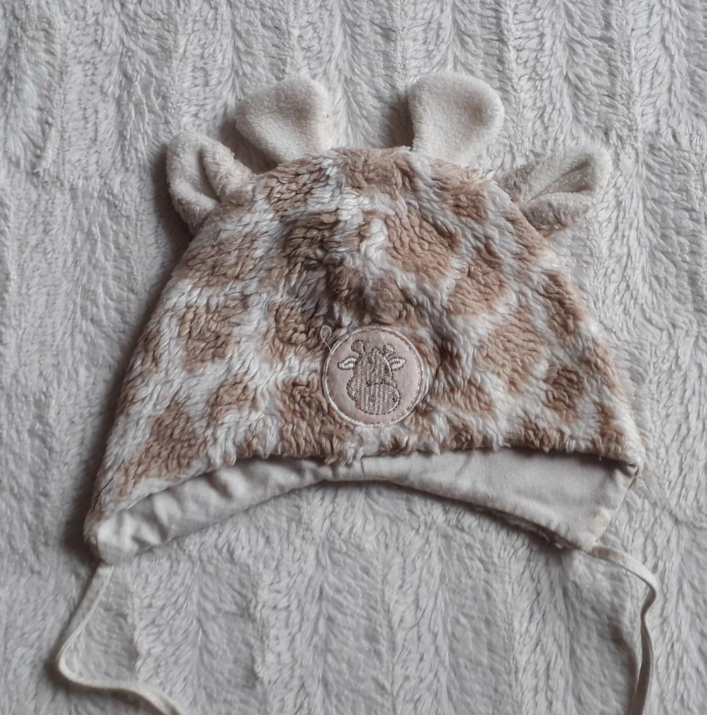 Czapka żyrafka 45 cm na zimę wiązana