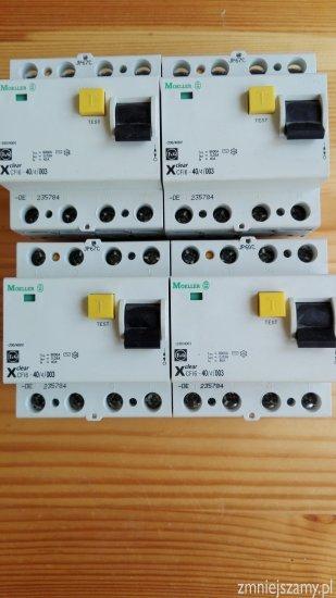 Zestaw wył.różnicowo prądowy 4P 40A 4szt. MOELLER
