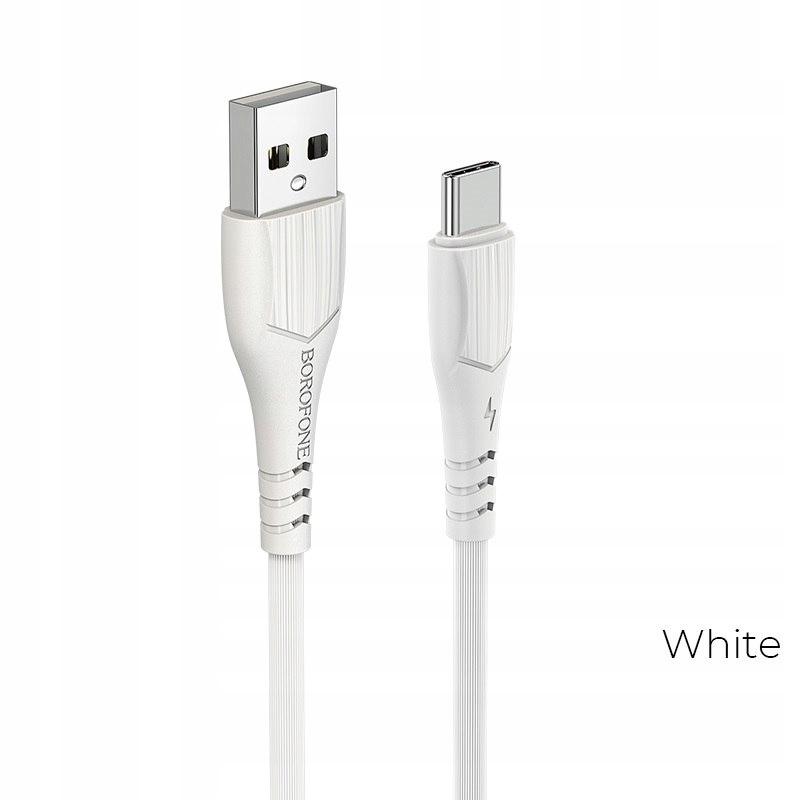 BOROFONE - KABEL USB-A DO USB-C 1M BIAŁY