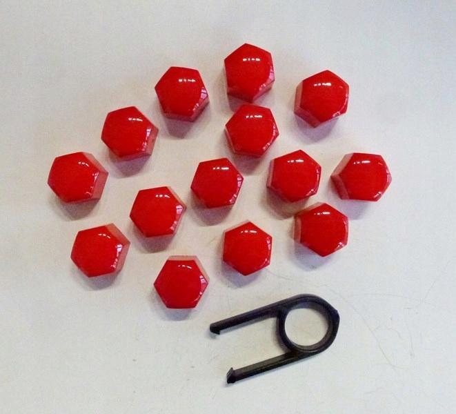 Nakładki na śruby czerwone 17mm TUNING SPORT