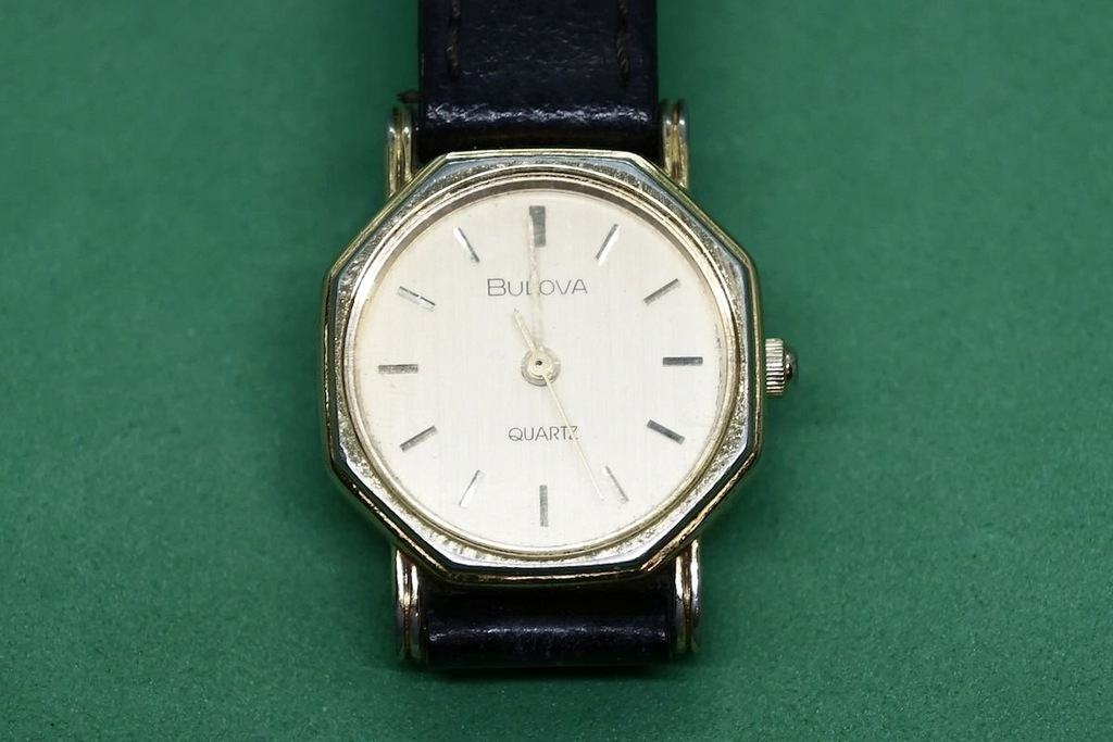BULOVA 612 zegarek damski złocony ładny oryginaln