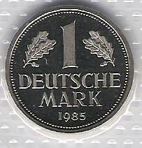 Niemcy -1 mk.1985 J (mennicza)
