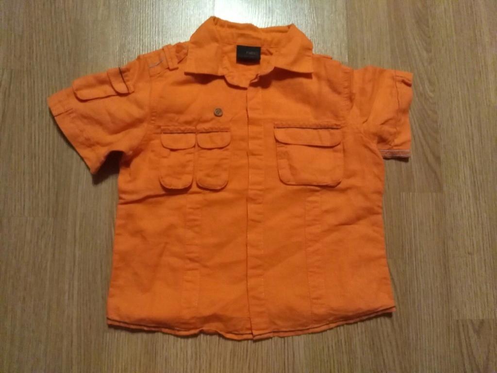 NEXT koszula len 3-4 104