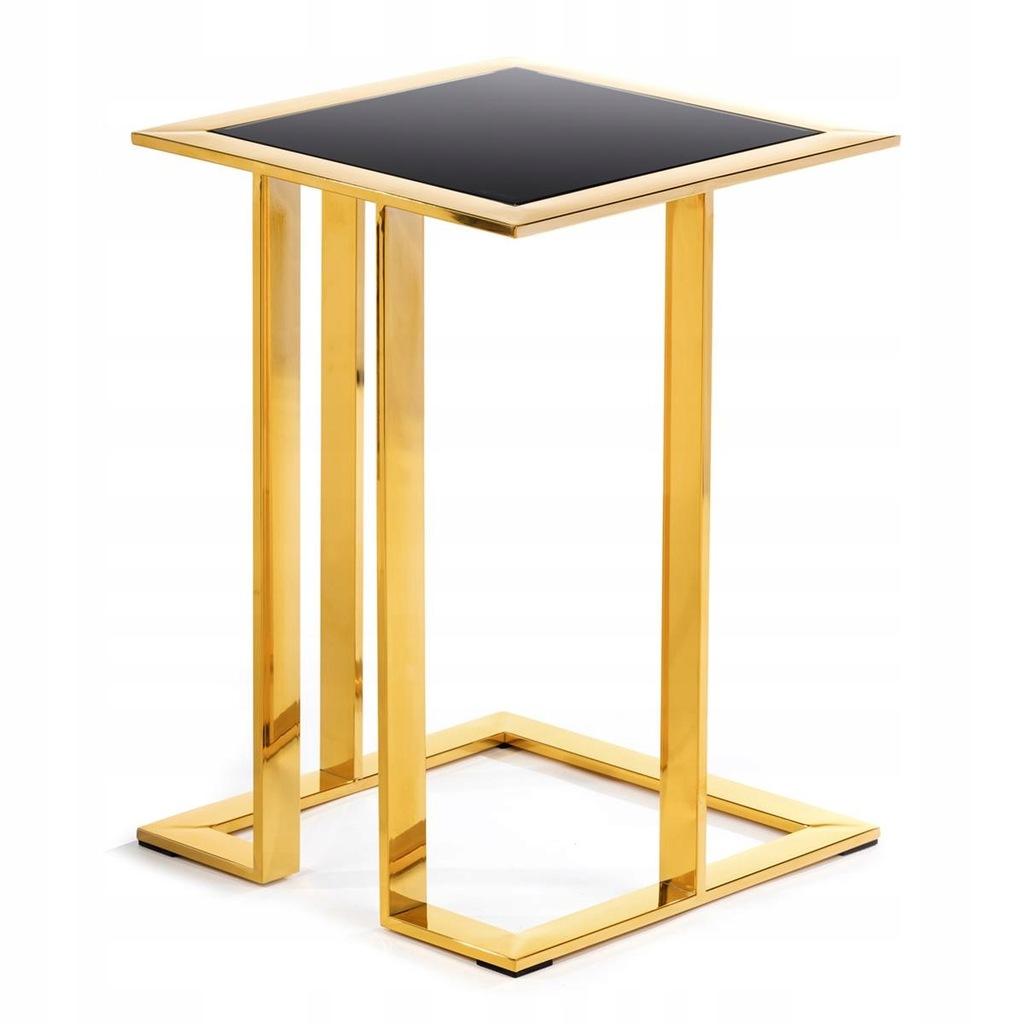 Stolik pomocniczy do firmy biura złoty GLAMOUR