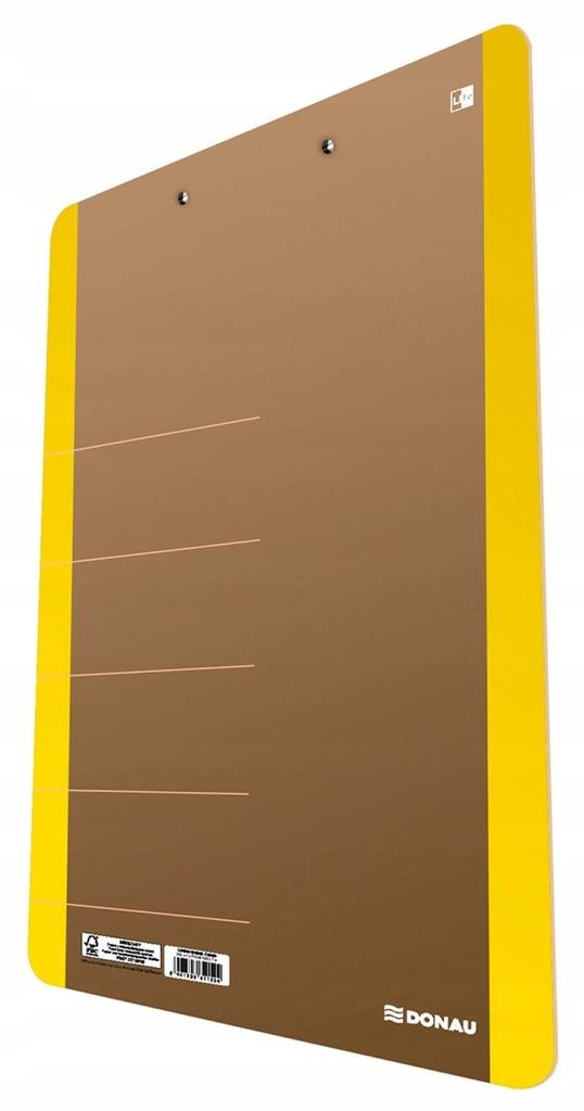 Clipboard DONAU Life, karton, A4, z klipsem, żółty