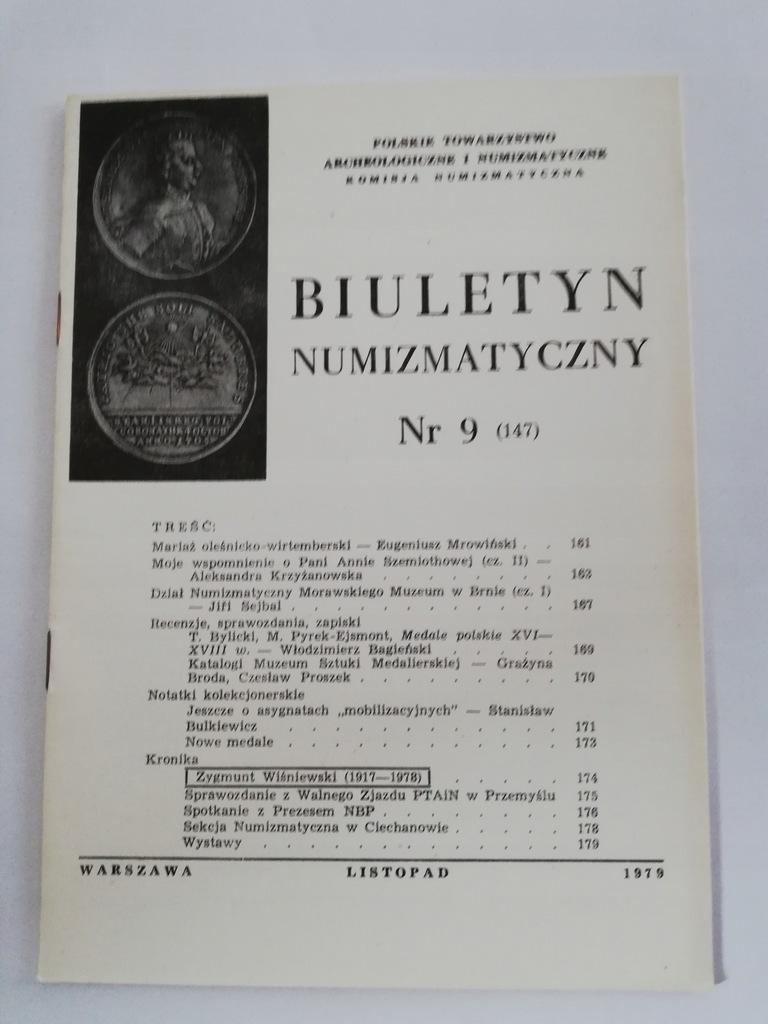 Biuletyn Numizmatyczny 9 (147) 1979 r.