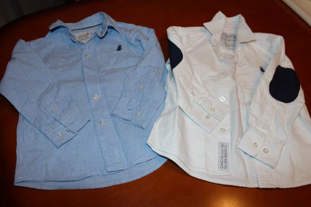 Zestaw - 2 szt. koszula, elegancka, rozpinane r.98