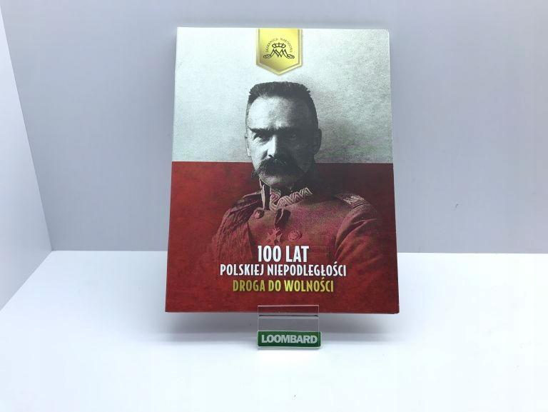 ALBUM 100 LAT POLSKIEJ NIEPODLEGŁOSCI + 2 MONETY