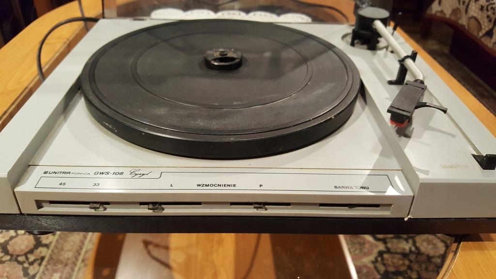 gramofon ze wzmacniac Unitra GWS 108 Cyryl sprawny